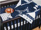NFL Dallas Cowboys Crib Bedding - 4pc Football Baby Quilt Bed-in-Bag
