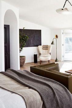 Modern Bedroom Design, Home Interior Design, Interior Paint, Interior Livingroom, Interior Modern, Bedroom Designs, Apartment Decoration, Decoration Crafts, Home Living