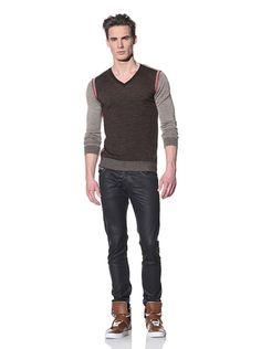 Just Cavalli  Colorblock V-Neck Sweater