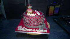 Torta di laurea, graduation cakes, flowers, fiori, pdz, mmf, fondent,pasta di zucchero,red, rosso, Grey, grigio, gufo, laurea, tocco, owl