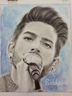 Adam Lambert drawing graphite on paper by T Saldana