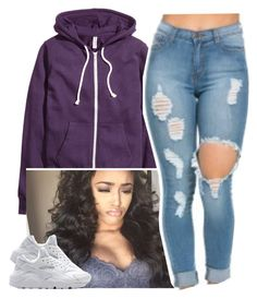 """""""✨"""" by newtrillvibes ❤ liked on Polyvore featuring H&M and NIKE"""