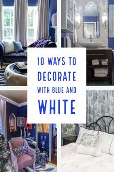 I love these blue and white decorating ideas for living rooms, dining rooms, bedrooms and bathrooms. It's such a classic color scheme that never goes out of style and makes your house look beautiful #fromhousetohome #homedecorideas #color #paintingtips Office Paint Colors, Dark Paint Colors, Popular Paint Colors, Interior Paint Colors, Paint Colors For Living Room, Paint Colors For Home, My Living Room, House Colors, Blue And White Vase
