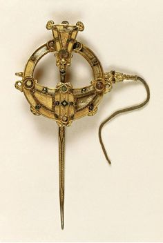 The Tara Brooch is a Celtic brooch of about 700 AD generally considered to be the most impressive of over 50 elaborate Irish brooches to have been discovered. It was found in 1850 and rapidly recognised as one of the most important works of early Christian Irish Insular art; it is now displayed in the National Museum of Ireland in Dublin.