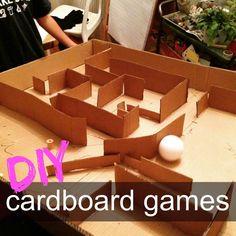 mamascout: {make} diy cardboard games :: junk modelling :: cardboard crafts