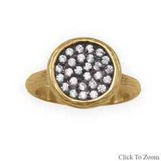 BLK AND NOIR JEWELRY - 14 Karat Gold CZ Cluster Ring , $75.00 (http://www.blkandnoir.com/14-karat-gold-cz-cluster-ring/)