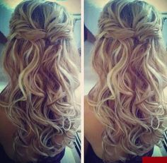Love this hairstyle, used this pic as inspiration for my wedding day hair.