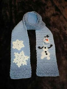 Olaf scarf: http://knottyhookerdesigns.blogspot.com/p/olaf-inspired-snowman-applique.html?m=1
