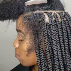 Box Braids Hairstyles For Black Women, Cute Braided Hairstyles, Long Face Hairstyles, African Braids Hairstyles, Twist Hairstyles, Hairstyles Videos, Braids For Black Women Box, Sporty Hairstyles, Dreadlock Hairstyles