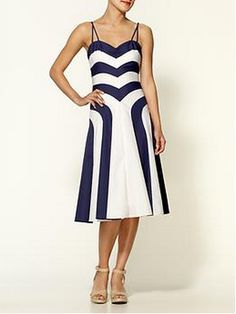 Dress by Milly piperlime.com Black White Chevron Striped Party Dress. Fabulous