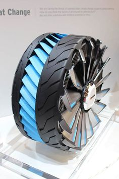 These Sci-Fi Tires Transform for Pavement, Snow, and Water Hankook Tire just showed off the results of its Design Innovation Project, a bi-annual daydream challenge to come up with the wildest, most futuristic tire concepts imaginable. This year's winners Wheels And Tires, Car Wheels, 3d Modelle, Jet Engine, Transportation Design, Automotive Design, Electric Cars, Cars And Motorcycles, Futuristic