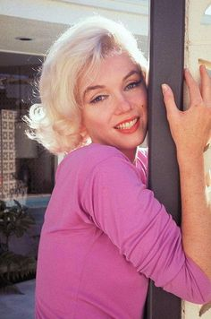 Marilyn Monroe at Tim Leimert's in the North Hollywood Hills. Photograph by George Barris, June-July 1962.