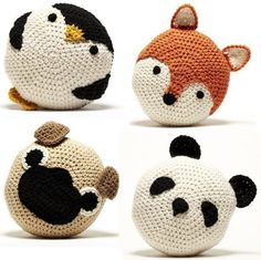 Peanut Butter Dynamite: crochet animal cushions