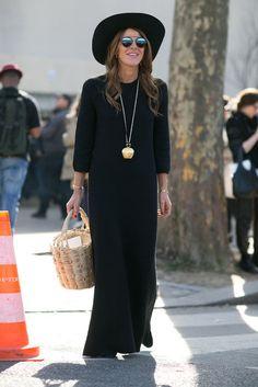 Anna Dello Russo während der Paris Fashion Week