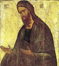 St Andrei Rublyov. St John the Baptist first quarter of the 15th c