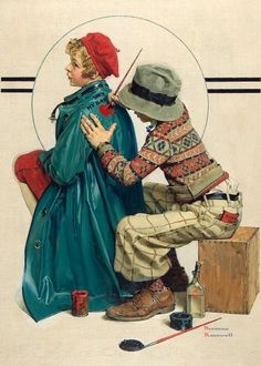 "She's My Baby "" by Norman Rockwell"