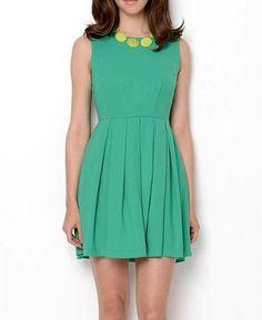 Esley Sleeveless Pleated Dress