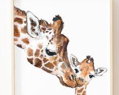 Lion Print Lion Nursery Fine Art Print Lion Art Mothers Day Lion Mom and Baby Lion Safari Nursery Art Lion For Kids Giraffe Nursery, Giraffe Art, Safari Nursery, Nursery Art, Nursery Decor, Nursery Prints, Aqua Nursery, Wall Decor, Animal Nursery