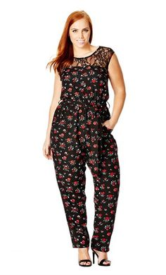 City Chic Daisy Love Jumpsuit - City Chic Your Leading Plus Size Fashion…