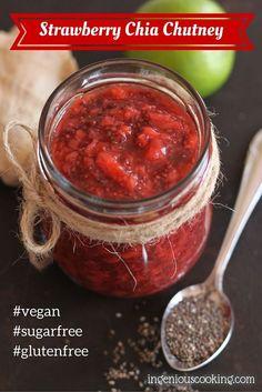 Strawberry chia chutney w/ lime & ginger #vegan #glutenfree |ingeniouscooking.com