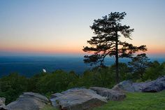 Sunset, Petit Jean State Park, Arkansas, looking west from Petit Jean Mountain