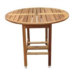 Folding Round Dining Table Set - Table