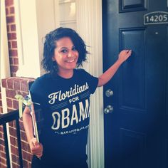 Complete your canvassing wardrobe with the perfect customized Floridians for Obama shirt! Get it exclusively at our store today: http://OFA.BO/VyYwXt