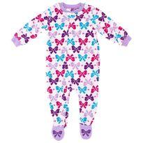 Vitamins Kids White Bow Footed Pajamas for Toddler Girls $12.99