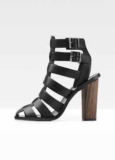 Nicolette Caged Leather Heeled Sandal | Vince