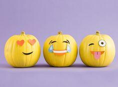 Follow these steps to make adorable emoji pumpkins.