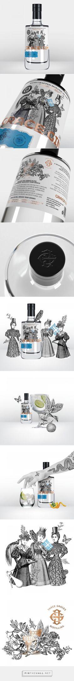 Grace Gin packaging design by MILK Branding Professsionals - https://www.packagingoftheworld.com/2018/03/grace-gin.html