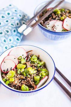 Vegan Spring Soba Noodle Bowl Recipe - The Corner Kitchen