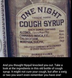 After taking a dose of this you will forget that you even have a cough...