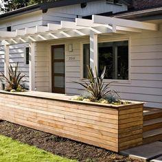 Jessica Helgerson, love the custom outdoor planters built into the pergola #LandscapingFrontYard