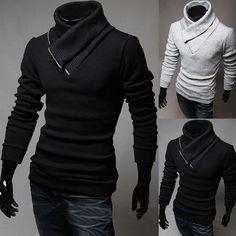 Black slim sweater