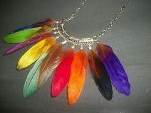 Collier ▲ PLUME apache indien mexicain etnique