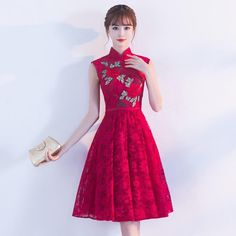 762a90a886d Traditional Chinese Dress Qipao Red Wine Party Dresses Bride 2017 Fashion  Plus Size Cheongsam Embroidery Oriental Wedding Gowns