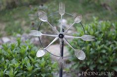 Outdoor & Garden Decorating: Vintage Silverware Whirligig