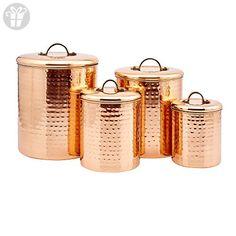"4 Piece Décor Copper ""Hammered"" Canister Set (*Amazon Partner-Link)"