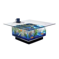 {Aquarium Coffee Table} cats would LOVE this! :)