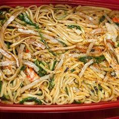Quickie Taegu Noodle Salad You will love this quick throw-together noodle salad made with linguine, sesame dressing, seafood, veggies and Korean taegu..