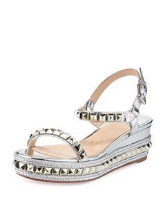 louboutin sandals silver