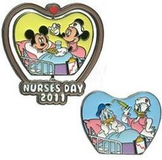 Disney Pins - Nurses Day 2011 - Limited Edition - Mickey, Minnie, Donald and Daisy Pin 83238 by Disney, http://www.amazon.com/dp/B00771AE56/ref=cm_sw_r_pi_dp_M3BHrb0BB11FC