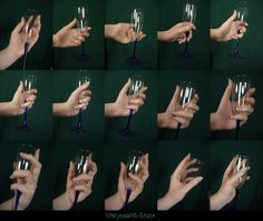 Hand Pose - Champagne Glass by Melyssah6-Stock.deviantart.com on @deviantART