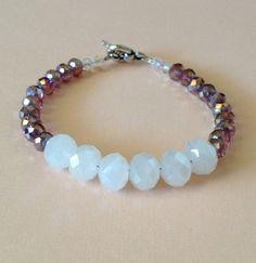 Purple and white bracelet by livedelightfully