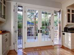 french doors at back