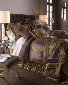 """Palatial"" Bed Linens by Dian Austin Couture Home at Horchow."