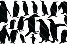 Penguin Silhouette Vector (18)
