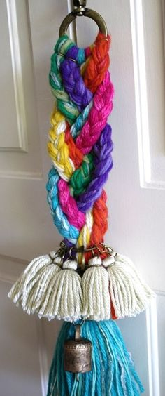 (JPEG Image, 1529 × 3660 pixels) - Scaled Smaller, with floss to make a purse tassel? Yarn Crafts, Diy And Crafts, Arts And Crafts, Passementerie, Home And Deco, Handicraft, Tassels, Craft Projects, Crochet Patterns