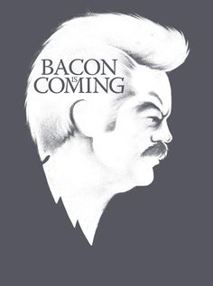 Winter is Coming t-shirt Bacon is Coming Game by VincentCarrozza